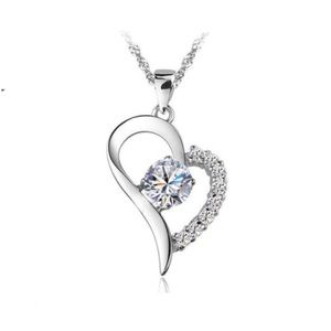 Jewelry - Sterling silver 925 cubic zirconia heart necklace